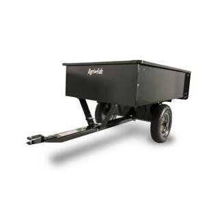Steel Dump Cart Tractor Trailer Attachment Garden Yard Lawn Sheet Wall 12 cu ft.