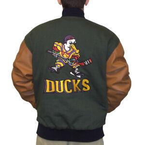 Gordon Bombay Jacket Mighty Ducks Movie Varsity Letterman Hockey Costume Coach