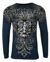 Xtreme Couture by AFFLICTION Men THERMAL T-Shirt LIBERTARIAN Biker MMA Gym
