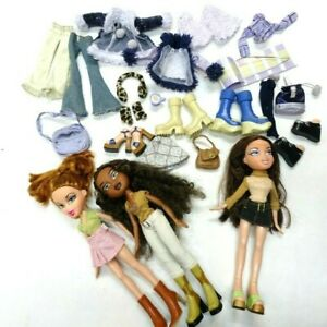 MGA Entertainment Retired Bratz Lot 3 dolls, clothes & Accessories* Used NICE