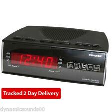 Texson cr-57 FM / AM doppia sveglia Radio con LED rosso Digital visualizzazione del tempo