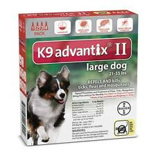 Professional Spot On Topical Flea & Tick Treatment for Dogs 21 to 55 lbs Red