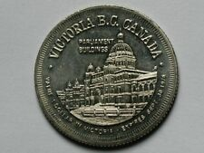 Victoria BC Canada 1976 DOLLAR Trade Token Coin with Parliament Buildings