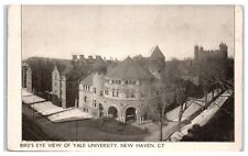 Early 1900s Aerial View of Yale University, New Haven, CT Postcard