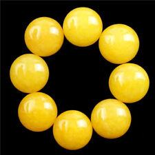 12Pcs Gorgeous Yellow Jade Round 12x5mm Cab Cabochon D18080205