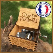 Game of Thrones Boîte à Musique Manivelle - Bois Série Daenerys Jon Snow Cadeau