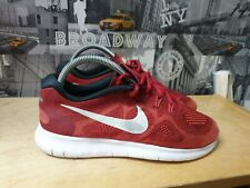 NIKE FREE RN RUNNING MEN'S RED TRAINERS SIZE 7/41