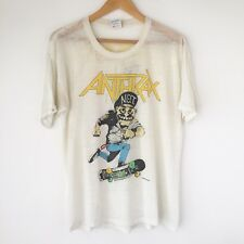 "1987 ANTHRAX  ""Mosh It Up"" Vintage Tour Rock Band Shirt 80s Slayer Iron Maiden"