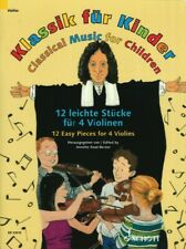 Classical Music for Children 12 Easy Pieces for 4 Violins String Ensem 049046356