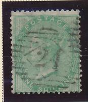 "Great Britain Stamp Scott #28, Used, ""24"" Cancel"