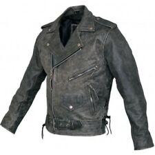 New Men Motorcycle Brando Vintage Retro Distressed Bikers Style Leather Jacket