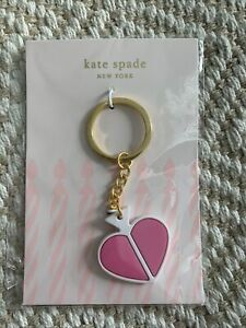 KATE SPADE NY Key Charm - Pink Heart Spade