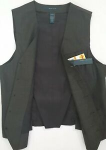 Perry Ellis NEW Tuxedo Formal Vest Charcoal Essentials Authentic Men NWT ~ryok99