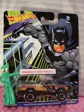 2016 DC Comics Hot Wheels Batman 1980 DODGE MACHO POWER WAGON☆Real Riders☆Pop