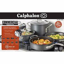New Calphalon Commercial Nonstick Hard Anodized 13 Piece Cookware Set