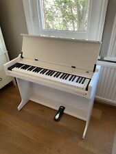 More details for electric piano desk white 61 keys with optional extra pedal included