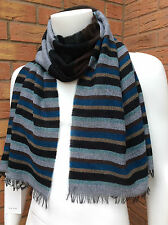 PAUL SMITH MULTI STRIPE LIGHTWEIGHT WOOL BLEND SCARF BNWT MADE IN ITALY