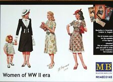 Masterbox 1:35 Women Of WWII Era Figures Model Kit