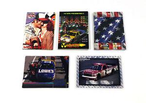 Lot of (5) 1996 Maxx Brands NASCAR Racing Insert Sets