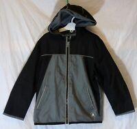 Boys George Grey Black Fleece Lined Spring Summer Hooded Coat Age 5-6 Years