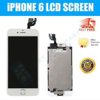 "White Screen For iPhone 6 4.7"" Replacement Digitizer Touch LCD Home Button + Cam"