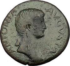 ANTONIA wife NERO CLAUDIUS DRUSUS 41AD Authentic Ancient Roman Coin i53849