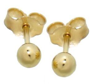 Ohrstecker Stecker 585 Gold Ohrringe Kugel 4mm