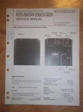 Kenwood Service Manual~KSS-200/SW-200/LS-200 Sub Woofer~Original Repair