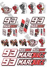 Marc Marquez 93 MotoGP Grosse Aufkleber Set laminiert /58