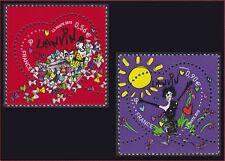2010 FRANCE N°4431/4432** Coeurs de LANVIN, ST VALENTIN, France 2010 MNH
