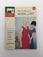 60s Singer Sewing Book Library 106 How to Measure Alter Fit Vintage