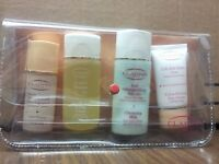 NEW CLARINS 4 PIECE SET SERUM ,LOTION CLEANSING MILK & EXTRA FIRMING DAY CREAM