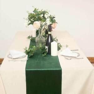 Hunter Emerald Green Velvet Table Runners, 30cm x 271cm