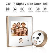 "2.8"" Visual DoorBell Intercom Night Vision Buit-in Battery Security Bell Camera"