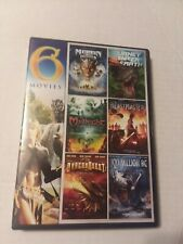 6 Fantasy Movie Collection On Dvd,Please see photos for movie titles.
