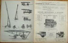 Firefighting 1920s French Fire Truck/Engine/Pump Brochure - Firemen/Fireman
