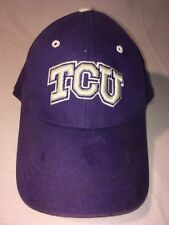 quality design a5471 656ee NCAA Football TCU Horned Frog Hat Cap Top Of The World Youth purple