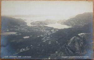 BERGEN-Fra Ulrikken, Hordaland, Norway 1919 Realphoto Postcard