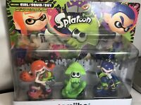 Splatoon 3-pack Inkling Girl Squid and Boy Nintendo Amiibo New in Box