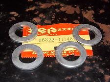 NOS OEM Suzuki Swingarm Washer 77-86 GS550 77-82 GS750 DR100 QTY4 08322-11148