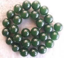 "14mm Green Jade Round DIY Making Semi Precious Loose Beads Stone 15.5"""
