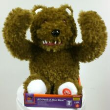 BROWN Peek A Boo Bear 11 in. with Animation Mouth & Arms Halloween SCARY