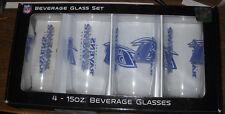 BALTIMORE RAVENS (4) 15 OZ Glass Set BOELTER BRANDS NFL NIB GORGEOUS LOGO!