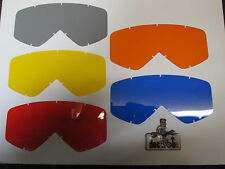 Smith Fuel ingesta Original Rojo, Naranja, Azul, Gris + Amarillo Anti Fog Lens Set sm1006