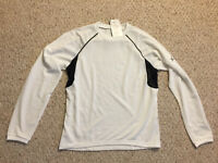 NEW NWT CW-X Long Sleeve Performance Athletic Shirt White SPF30 Men's Small