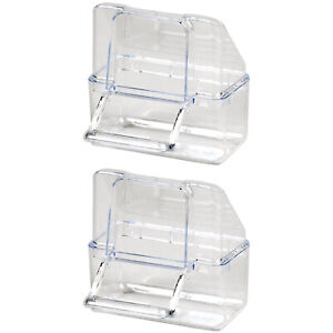 Pet Ting External Cage Feeder Clear Pack of 2