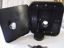 RV trailer GRAVITY WATER FILL hatch with lock VALTERRA black marine motorhome