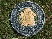Stampo STAMPI STAMPO in lattice. benvenuto nel mio giardino Piastra a parete con rana
