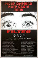 FILTER | ORGY | VAMPIRES EVERYWHERE 2016 Ltd Ed RARE New Tour Poster! Metal Rock