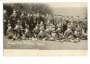 Military Naval Postcard - Royal Navy Volunteers, Brighton, Sussex  1904.